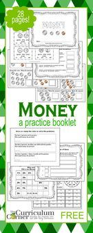 Counting Money Practice Booklet.