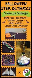 Halloween-themed STEM challenges.