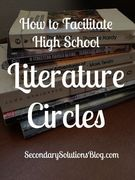 How to facilitate literature circles in a high school.