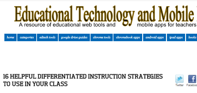 Differentiated Instruction Strategies Use Your Class Teacher Idea