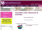 Hannukah Links, Resources and Activities.