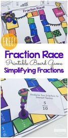 FREE Fractions Race Game.