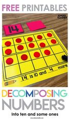 Decomposing Teen Numbers.