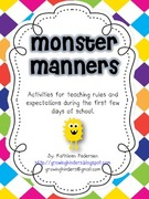 Monster Fun! Teaching Manners and Expectations.