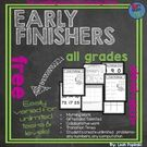 Early Finishers and Gifted Code Problems.