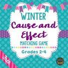 Winter Cause and Effect Matching Game.