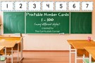 Printable Number Card: up to 100.