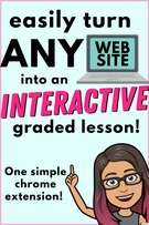 Teaching Tool.  Turn Any Website into an Interactive Virtual Lesson.
