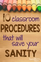 10 Classroom Procedures that Will Save Your Sanity.