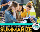 Teaching Students How to Summarize Text.