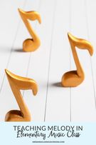 Activities and games to teach melody in elementary music.